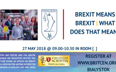 BLC Introductory Lecture on Brexit at the University of Białystok